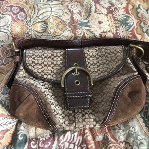 Gently used Coach hobo bag